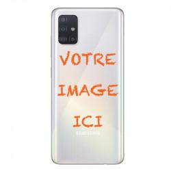 Coque transparente pour Samsung Galaxy A51 personnalisée