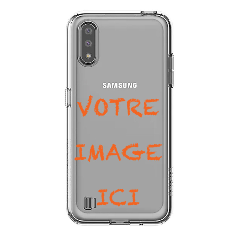Coque transparente pour Samsung Galaxy A01 personnalisée