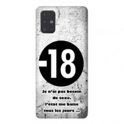 Coque pour Samsung Galaxy A51 Humour 18 ans
