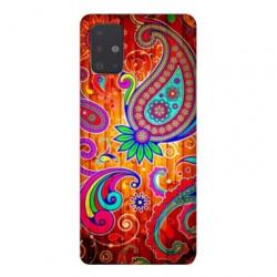 Coque pour Samsung Galaxy A51 fleur psychedelic