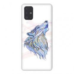 Coque pour Samsung Galaxy A51 Ethniques Loup Color