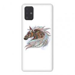Coque pour Samsung Galaxy A51 Ethniques Cheval Color B