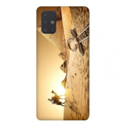 Coque pour Samsung Galaxy A51 Egypte Chameau