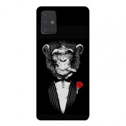 Coque pour Samsung Galaxy A51 Decale Singe Mafia