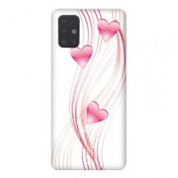 Coque pour Samsung Galaxy A51 Cœur rose Montant