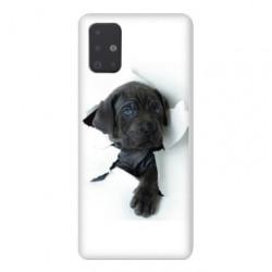 Coque pour Samsung Galaxy A51 Chien noir