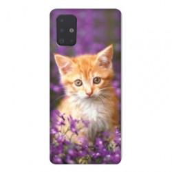 Coque pour Samsung Galaxy A51 Chat Violet