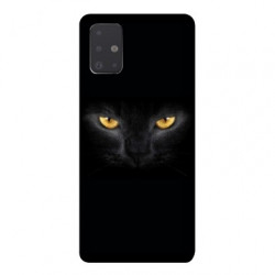 Coque pour Samsung Galaxy A51 Chat Noir