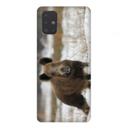 Coque pour Samsung Galaxy A51 chasse sanglier Neige