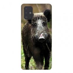 Coque pour Samsung Galaxy A51 chasse sanglier bois