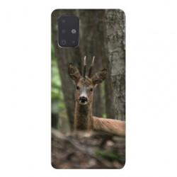 Coque pour Samsung Galaxy A51 chasse chevreuil Bois