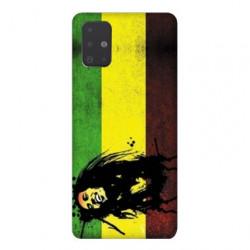 Coque pour Samsung Galaxy A51 Bob Marley Drapeau