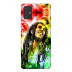 Coque pour Samsung Galaxy A51 Bob Marley Color