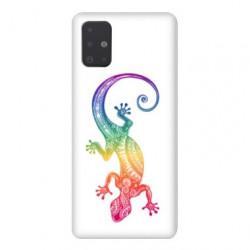 Coque pour Samsung Galaxy A51 Animaux Maori Salamandre color