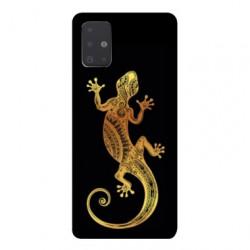 Coque pour Samsung Galaxy A51 Animaux Maori lezard noir