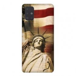 Coque pour Samsung Galaxy A51 Amerique USA Statue liberté