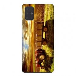 Coque pour Samsung Galaxy A51 Agriculture Tracteur color