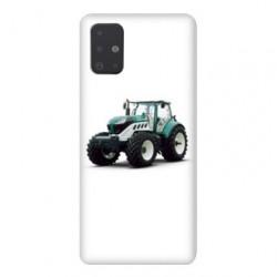 Coque pour Samsung Galaxy A51 Agriculture Tracteur Blanc