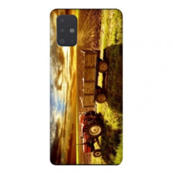Coque pour Samsung Galaxy A71 Agriculture Tracteur color