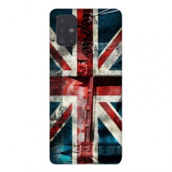 Coque pour Samsung Galaxy A71 Angleterre UK Jean's