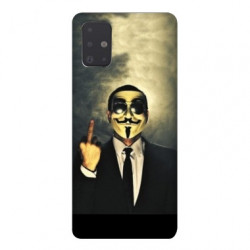 Coque pour Samsung Galaxy A71 Anonymous doigt