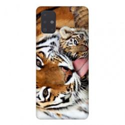 Coque pour Samsung Galaxy A71 bebe tigre