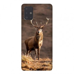 Coque pour Samsung Galaxy A71 chasse chevreuil Blanc