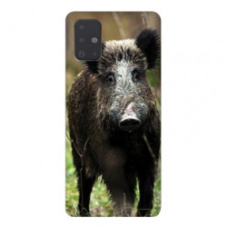 Coque pour Samsung Galaxy A71 chasse sanglier bois