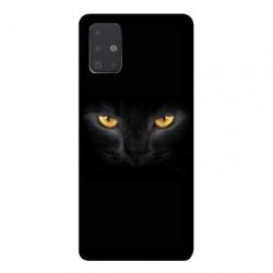 Coque pour Samsung Galaxy A71 Chat Noir