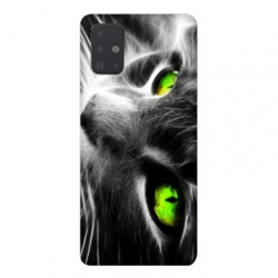 Coque pour Samsung Galaxy A71 Chat Vert
