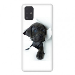 Coque pour Samsung Galaxy A71 Chien noir