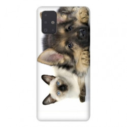 Coque pour Samsung Galaxy A71 Chien vs chat
