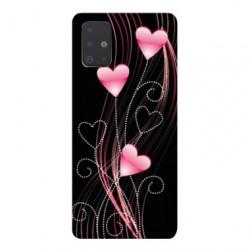 Coque pour Samsung Galaxy A71 Cœur rose Montant