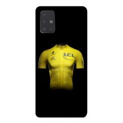Coque pour Samsung Galaxy A71 Cyclisme Maillot jaune