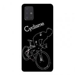 Coque pour Samsung Galaxy A71 Cyclisme Ombre blanche