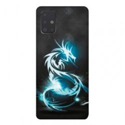 Coque pour Samsung Galaxy A71 Dragon Bleu