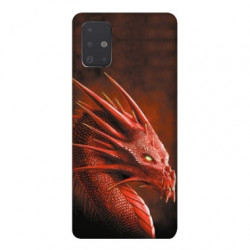 Coque pour Samsung Galaxy A71 Dragon Rouge