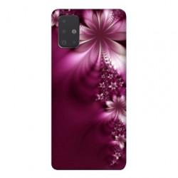 Coque pour Samsung Galaxy A71 fleur violette montante