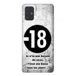 Coque pour Samsung Galaxy A71 Humour 18 ans