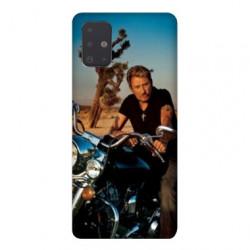 Coque pour Samsung Galaxy A71 Johnny Hallyday Moto