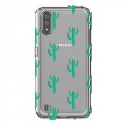 Coque transparente pour Samsung Galaxy A01 Cactus