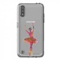 Coque transparente pour Samsung Galaxy A01 Danseuse etoile