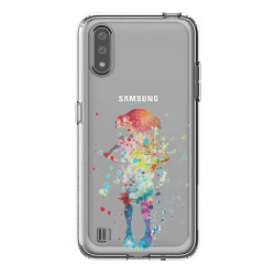 Coque transparente pour Samsung Galaxy A01 Dobby colore