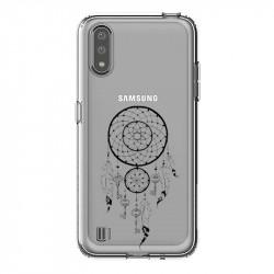 Coque transparente pour Samsung Galaxy A01 feminine attrape reve cle