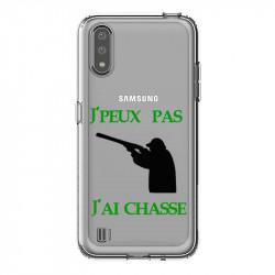 Coque transparente pour Samsung Galaxy A01 jpeux pas jai chasse