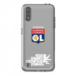 Coque pour transparente Samsung Galaxy A01 Licence Olympique Lyonnais - double face