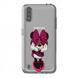 Coque transparente pour Samsung Galaxy A01 noeud papillon