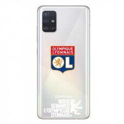 Coque pour transparente Samsung Galaxy A51 Licence Olympique Lyonnais - double face