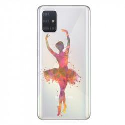 Coque transparente pour Samsung Galaxy A71 Danseuse etoile