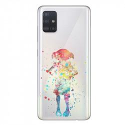 Coque transparente pour Samsung Galaxy A71 Dobby colore